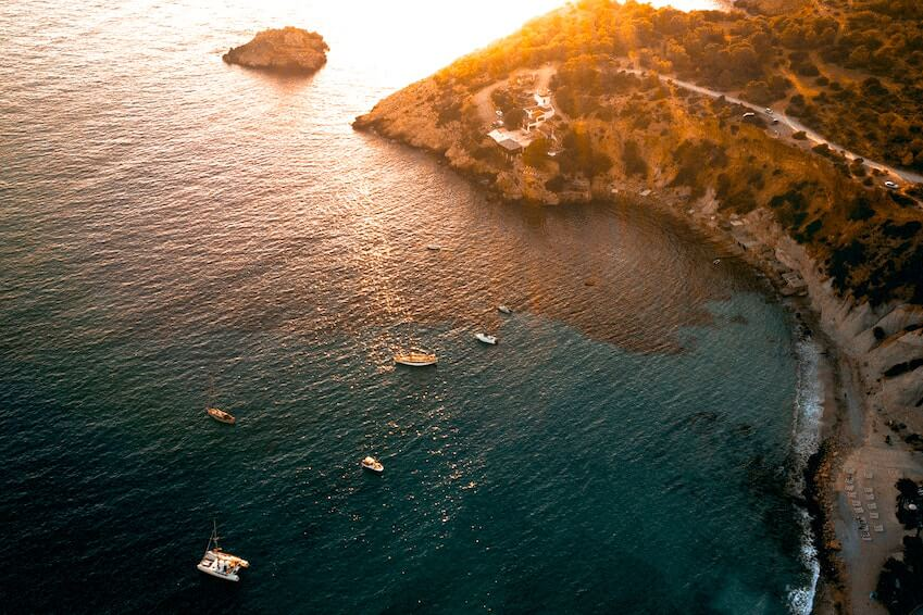 10- Sunbathe on the coves of Ibiza