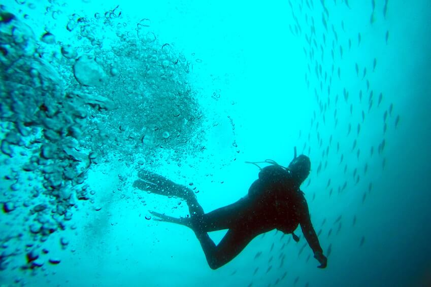 4- Try scuba diving